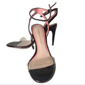 Zara  Clear Open Toe Ankle Strap Sandals Heels